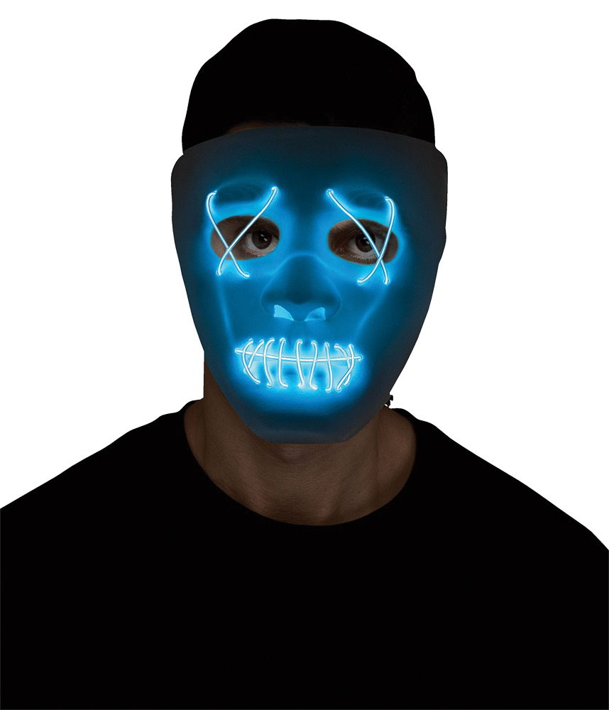 Blue String Light White Mask