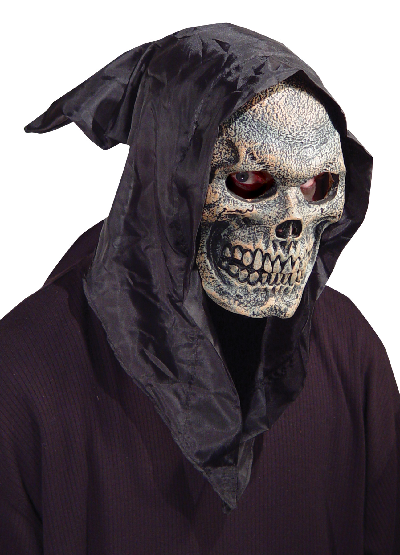 Hooded Skull Mask Flexi Face