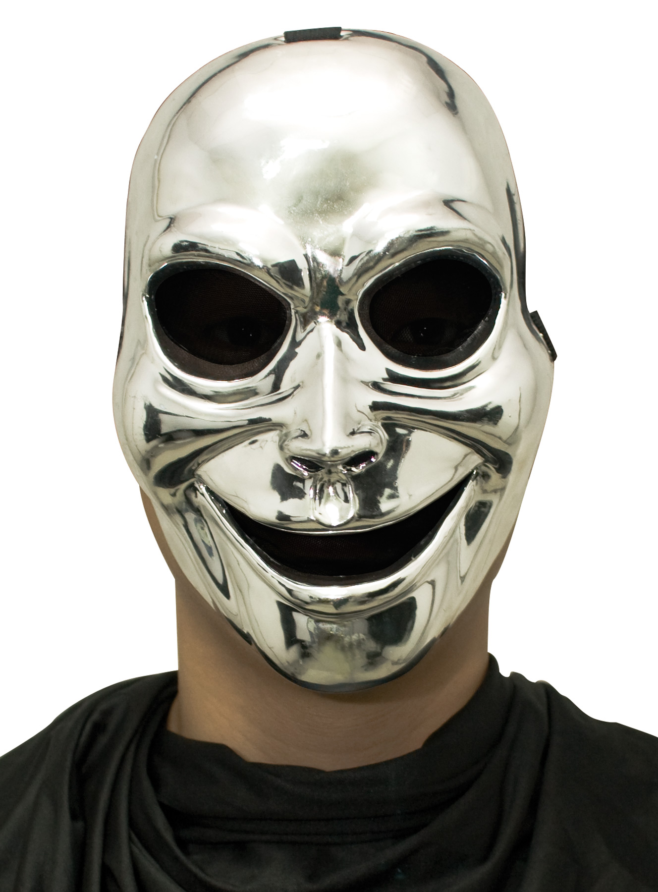 Sinister Ghost Silver Plastic Mask