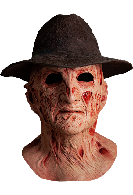 Deluxe Freddy Mask With Fedora Hat- A Nightmare On Elm Street 4 The Dream Master
