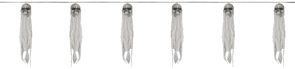 60 inch Skull Ghost Garland Decoration