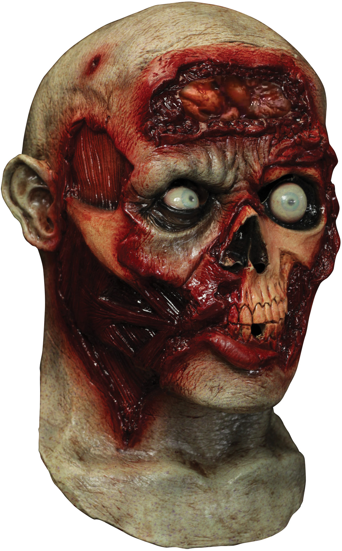 Pulsing Zombie Brains Animated Mask