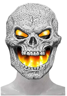 Flame Fiend Flaming Skull Mask-Yellow