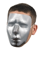 Blank Chrome Male Face Mask