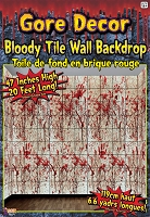 Bloody Tile Wall Roll 20' X 4'