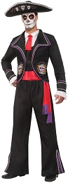Men's Day Of Dead Mariachi Macabre Costume