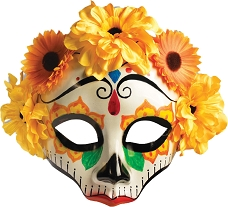 Women's Day Of Dead Mask With Flowers