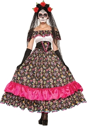Women's Day Of Dead Costume