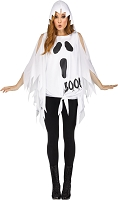 Ghost Print Poncho