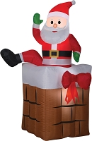 Animated Climbing Santa Airblown Decoration
