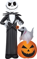 Blow Up Jack And Zero On Pumpkin- Nightmare Before Christmas