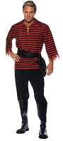 Pirate Adult Costume Set- Red