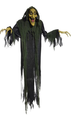 72'' Animated Hanging Witch Prop