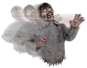 Bump and Go Zombie Animated Prop