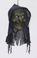 Hanging Witch Head Prop