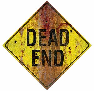 Metal Dead End Sign