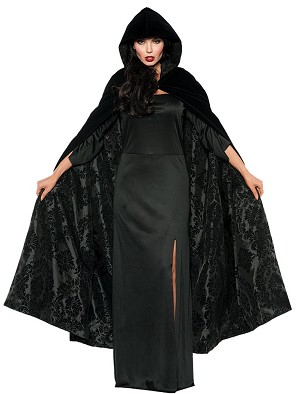 Black Velvet and Satin Cape