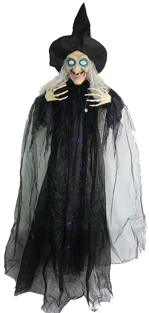 72 Inch Animated Hanging Witch Prop