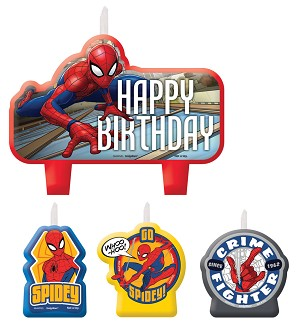 Candle Set- Spiderman