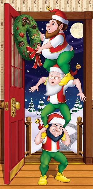Christmas Elves Door Cover