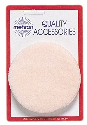 Mehron Powder Puff Carded Makeup Tool