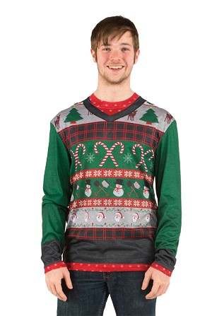 "Ugly Christmas Sweater ""Candy Canes""- Medium"