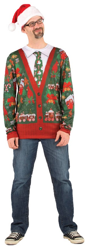 "Ugly Christmas Sweater ""Cardigan""- Large"