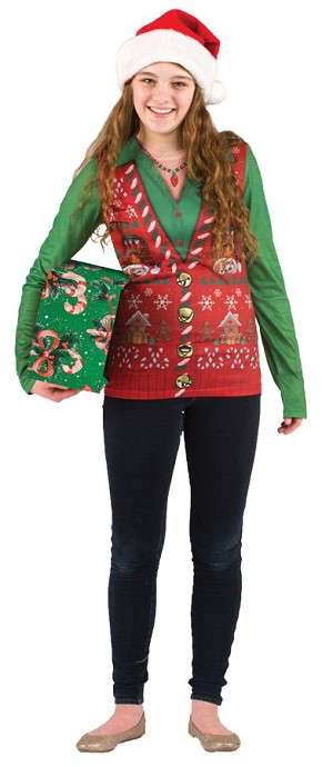 "Ladies Ugly Christmas Sweater ""Vest""- Large"