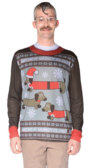 "Ugly Christmas Sweater ""Weiner Wonderland""- Large"