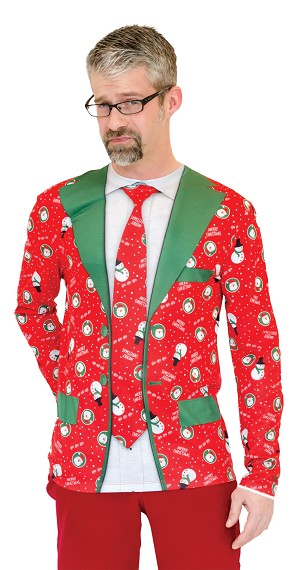 "Ugly Christmas ""Suit and Tie""- XL"