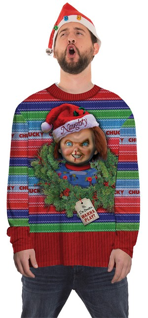 Medium-Chucky Ugly Christmas Sweater- Chucky