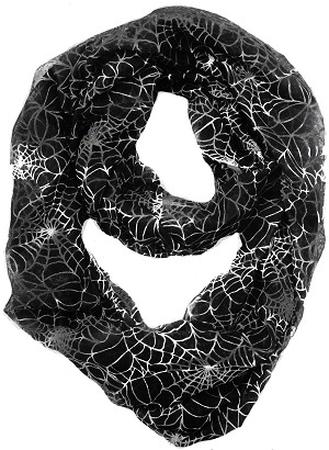 Spider Web Infinity Scarf