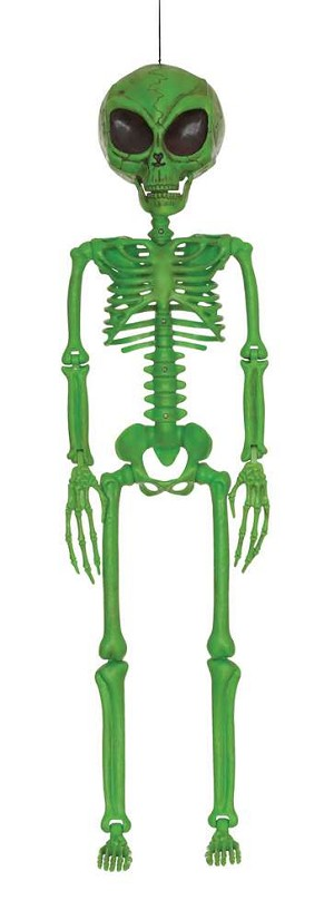 Green Alien Skeleton Prop