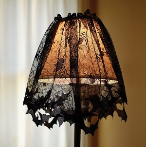 Spooky Lace Lampshade Topper