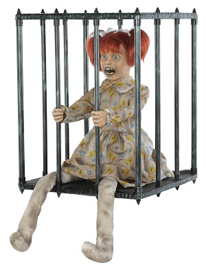 Animated Caged Kid Actor Prop
