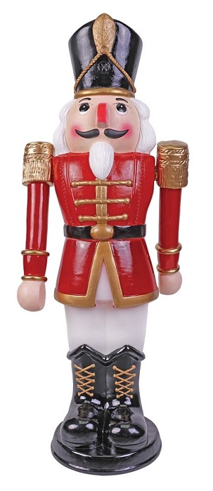 Animated Nutcracker Red/ White 36""