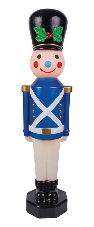 Vintage Look Toy Soldier 42 Inch Decoration- Blue
