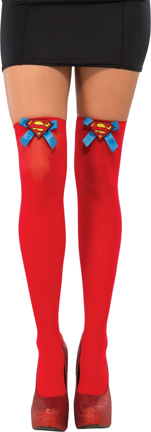 Supergirl Thigh High Socks