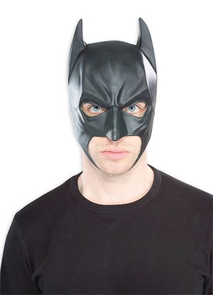 Batman Begins Adult 3/4 Vinyl Batman Mask
