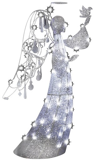 Jeweled Crystal Angel Decoration