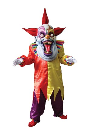 Evil Clown Over-sized Mask and Costume