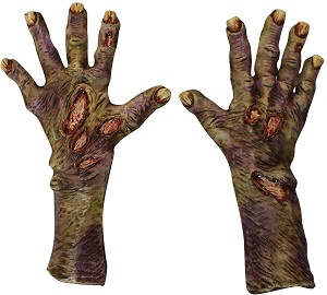 Zombie Rotted Large Latex Gloves