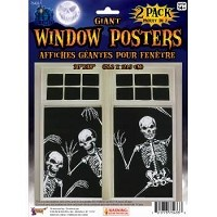 Giant Skeleton Window Posters 2 Pack