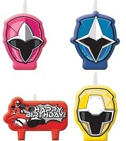 Candle Set- Power Rangers