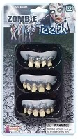 Economy Three Pack Zombie Teeth Set