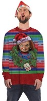 Large-Chucky Ugly Christmas Sweater- Chucky