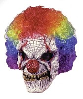 Zombie Clown Mask With Wig