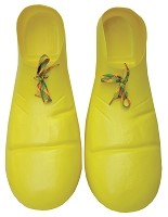 Yellow Plastic Adult Clown Shoes