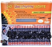 Set Of 50 Orange Halloween Lights
