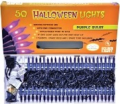 Set Of 50 Purple Halloween Lights